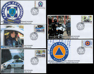 Greece 2020 Civil Protection Hellenic Police  (U) FDC self-adhesive Booklet