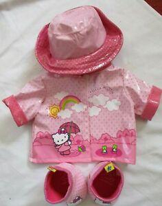Build a Bear Hello Kitty Rain Coat Hat & Boots