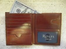 BROWN ROLFS Men's wallet 21 credit card slots Genuine Premium Leather ATTACHE NW