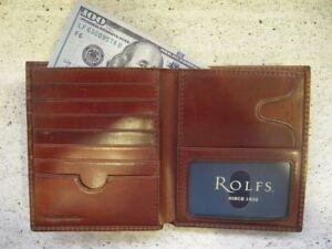 BROWN ROLFS Men's wallet 21 credit card slots Genuine Premium Leather ATTACHE NW