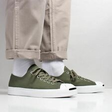 Converse Men's New Jack Purcell Ox Canvas Shoes Field Surplus Green White Black