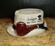 ASCHENBECHER figürlich OLD SMUGGLER Scotch Whisky - We love smoker- FEDORA HUT