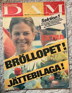 Svensk DAM tidning-Nr.26/1976 - Königin Silvia von Schweden; Königshaus