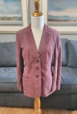 NWTScully Leather Womens Suede Blazer Jacket Purple Plum Western Size 10