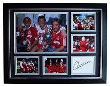 Ronnie Moran Signed Autograph 16x12 framed photo display Liverpool Football COA