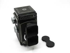 Yashica A TLR (6X6) Dual Lens Hood & Cap 3D-Printed (does not include camera)