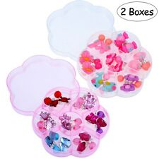14 Pairs Fashion Children Kids Ear Clip No piercing-Clip On Earring Jewelry AU