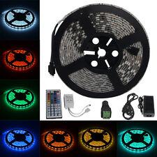 5M 5050 RGB LED Light Flexible Strip Waterproof 44 Key Remote Full Kit Christmas