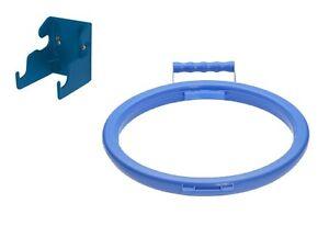 Wall Bracket & Handy Hoop Ring Sack Bin Refuse Bag Holder Plastic Handle Blue