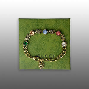 GUCCI COLORFUL RHINESTONES BRACELET FOR WOMEN WITH GIFT BOX