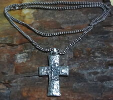 JAMES AVERY RARE 925 SILVER LARGE ST. FRANCIS OF ASSISI CROSS PENDANT & NECKLACE
