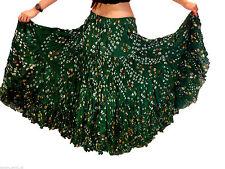 25 Yard Skirt Tribal GREEN POLKA DOT Belly Dance Skirts 100% JAIPUR  ATS
