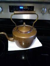 Vintage Copper Gooseneck Heavy Kettle.