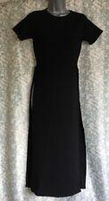 Missi London Cap Sleeve High Slit Black  Dress or Tunic New M/L