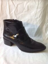 Next Black Ankle Leather Boots Size 6.5