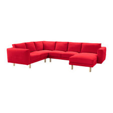 IKEA NORSBORG COVER 4 Seat Corner Sofa with Chaise Slipcover 2+2+1 FINNSTA RED