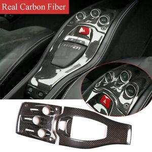 Real Carbon Fiber Central Control Gear Shift Panel Trim For Ferrari 458 2011-16