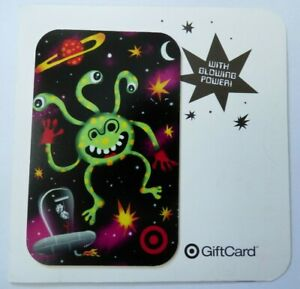 Target Gift Card Alien in Space w/ Glowing Power on Backing - 2006 - No Value