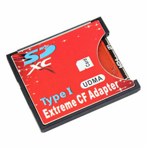 SD SDHC SDXC to CF Card Adapter Compact Flash Type I Card Converter Card Reader