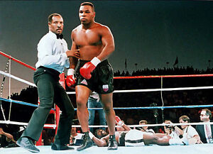 RICHARD STEELE & MIKE TYSON 8X10 PHOTO BOXING PICTURE KO