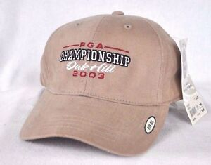 *VINTAGE* 2003 PGA CHAMPIONSHIP OAK HILL FITTED GOLF HAT CAP *IMPERIAL HEADWEAR*