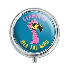 Flamingo All the Way Funny Humor Pill Case Trinket Gift Box