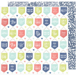 American Craft Saturday Collection Double Sided Paper Staten Island 12 X 12