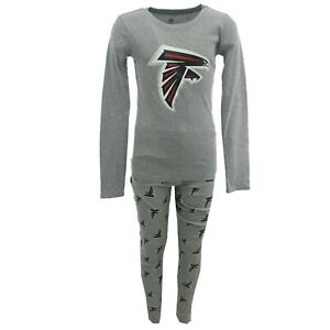 Atlanta Falcons NFL Youth Kids Size 2 Piece Pajama Pants & Long Sleeve Shirt