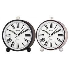 Ravel Contemporary Quartz Silent Sweep Alarm Clock RC014 SILVER & BLACK Colour