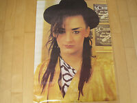 LOOK!! 1983 vtg BOY GEORGE CULTURE CLUB POSTER promo WALL ART pop music NOS 80s
