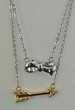 Fossil Necklace Set BOW & ARROW Best Friends Love Charms 2 in 1 Necklaces NEW