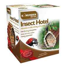 INSECT & BEE HOTEL HANGING WOODEN HOUSE BOX NEST BUG LADYBIRD GARDEN BEE KEEPING