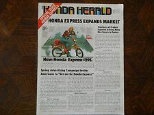 77 HONDA HERALD EXPRESS WINTER 1977 NOS OEM DEALER'S SALES SHEET BROCHURE