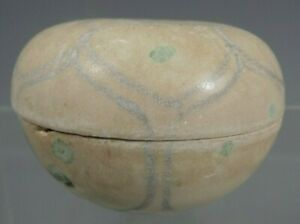 Vietnam Vietnamese Blue on White Foliate Decor Seal paste ? box 15th century