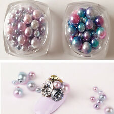 1PC Gradient Acrylic 3D Pearls Tips Nail Art Sticker Bead Ball Decals DIY Decor