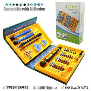 38 in 1 Premium Screwdriver Set Repair Tool Kit Fix iPhone Laptop Macbook PSP UK