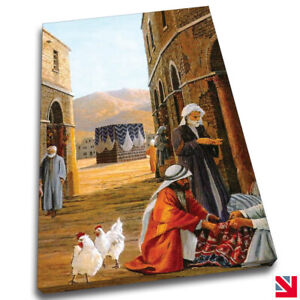 KAABA OLD PAINTING ISLAMIC EXCLUDE CANVAS Wall Art Picture Print A4