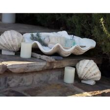 Decorative Bowls, Large Clam Shell Classic-Design Home Decor Gypsum White Bowls