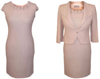 BLUSH PALE PINK MOTHER OF THE BRIDE 2 PIECE OUTFIT JACKET DRESS WEDDING SIZE 10