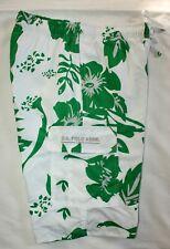 U.S. POLO ASSN. Swim Suit Trunks Board Shorts SZ S Green White Hawaiian NWT $45