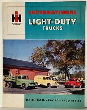 International Light-Duty Trucks R-110, R-120, Ra-120, S-130 Series Brochure 50s