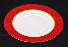 "Philippe Deshoulieres, Limoges, France, Red Ruby Roses, 10 3/8"" Dinner Plate"