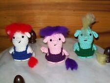 Adorable 4in crochet Baby Trolls set of 3 doll toy animal handmade #5