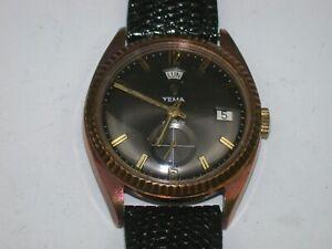 Swiss Men's Automatic Vintage Mechanical Round Wristwatch. 128M