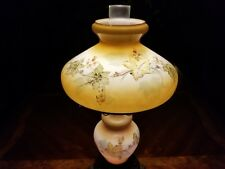 """Large Gone With The Wind Hurricane Lamp Painted Vintage Floral 21.5"""" Tall GWTW"""