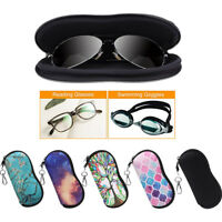 Eyeglasses Case Sunglasses Case Sleeve Pouch Soft Travel Bag with Carabiner Hook
