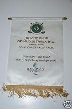 Mudgeeraba Australia 1996 World Golf Championship Rotary 9640 Club Banner Flag