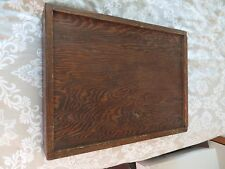 old antique wooden document box storage slide open quality hand made