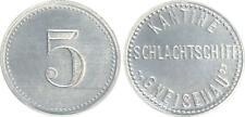 Schlachtschiff Gneisenau 5 Pfennig Aluminium für die Kantine prägefrisch