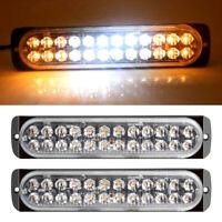 2pcs Recovery Strobe Flashing Lights White Amber 24 LED Emergency Lamp 12V/24V